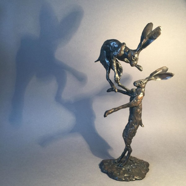 fighting hares, maquette