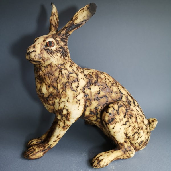 large sitting hare